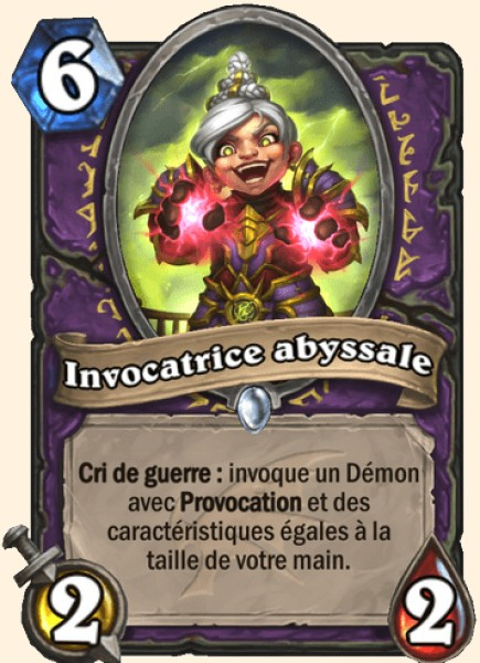 Invocatrice abyssale carte Hearthstone