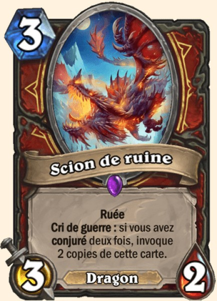 Scion de ruine carte Hearthstone