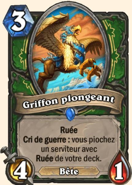 Griffon plongeant carte Hearthstone