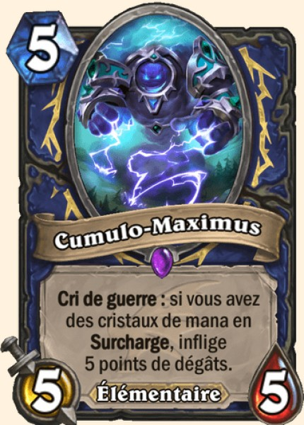 Cumulo-Maximus carte Hearthstone