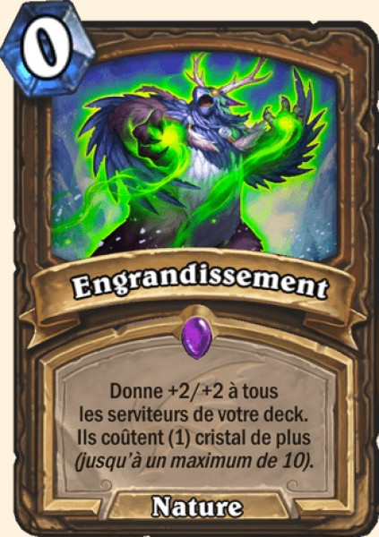 Engrandissement carte Hearthstone