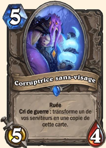 Corruptrice sans-visage carte Hearthstone