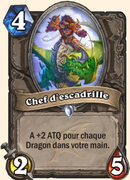 Chef d'escadrille carte Hearthstone
