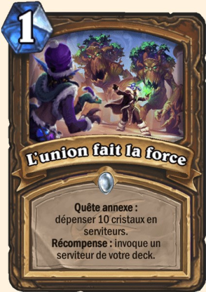 L'union fait la force carte Hearthstone