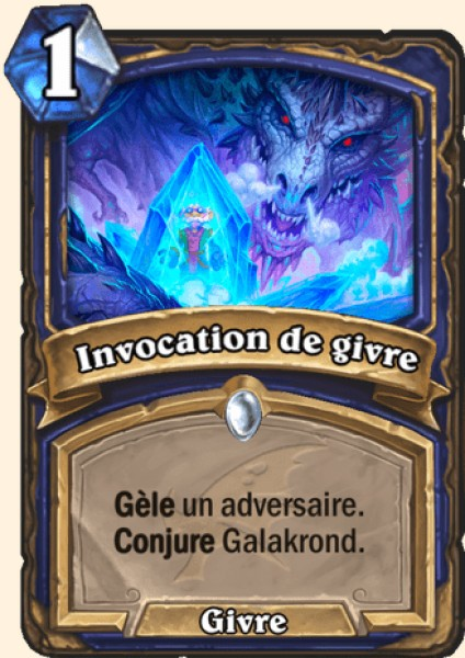 Invocation de givre carte Hearthstone
