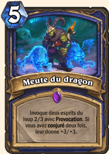 Meute du dragon carte Hearthstone