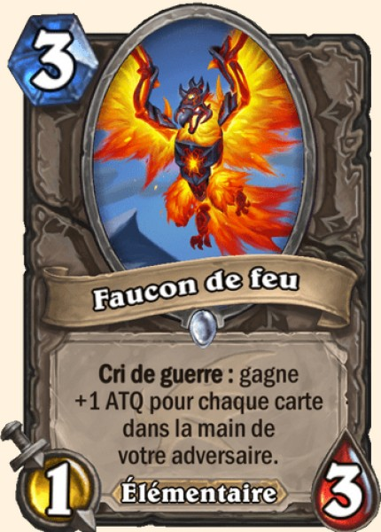 Faucon de feu carte Hearthstone