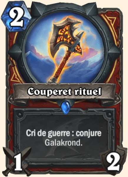 Couperet rituel carte Hearthstone