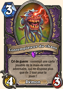 Contemplateur du chaos carte Hearthstone