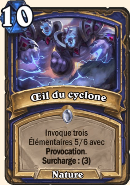 Oeil du cyclone carte Hearthstone