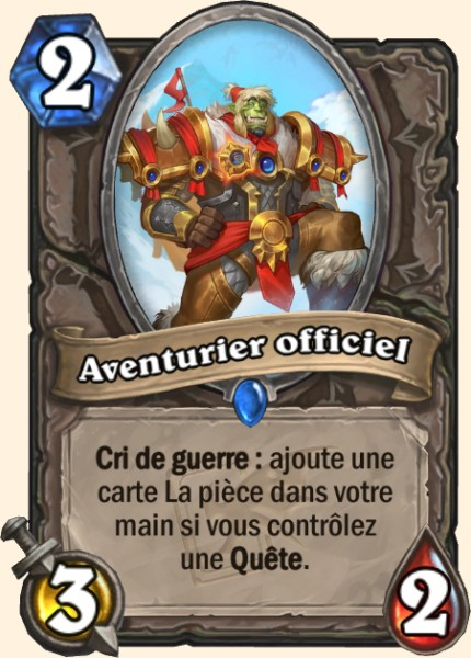 Aventurier officiel carte Hearthstone