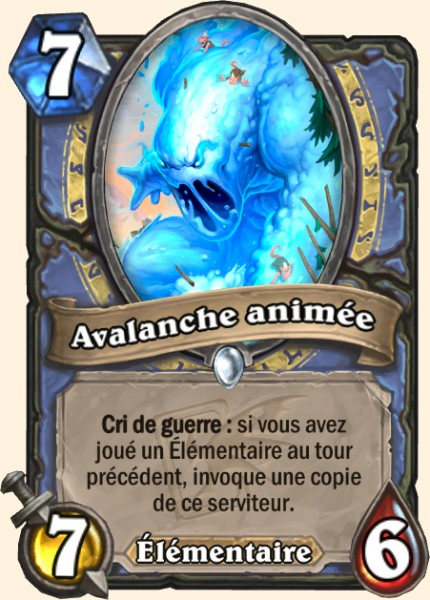 Avalanche animée carte Hearthstone
