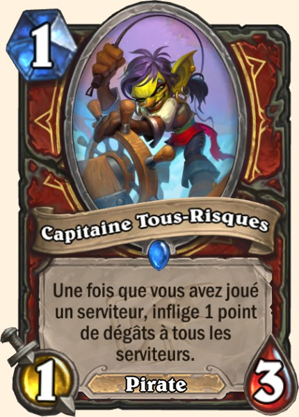 Capitaine Tous-Risques carte Hearthstone