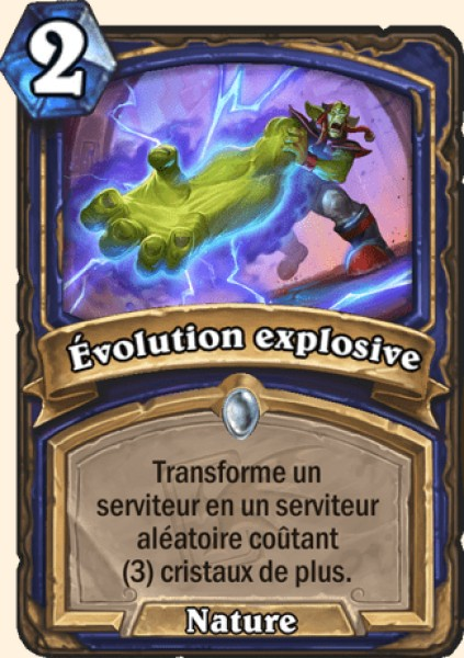 Évolution explosive carte Hearthstone