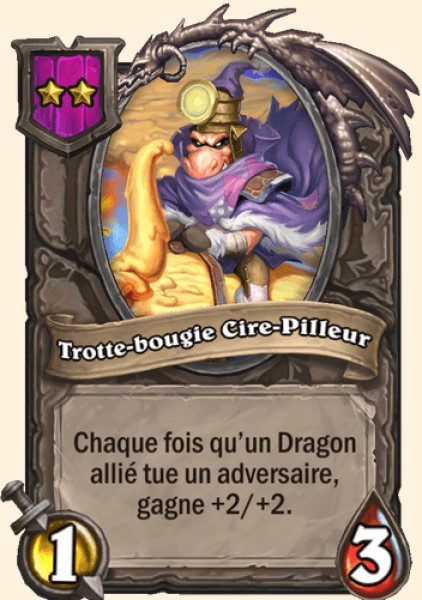 Trotte-bougie Cire-pilleur carte Hearthstone