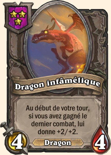 Dragon infâmélique carte Hearthstone