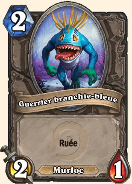 Guerrier branchie-bleue carte Hearthstone