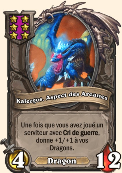 Kalecgos, Aspects des Arcanes carte Hearthstone