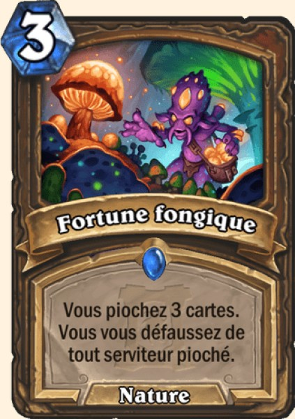 Fortune fongique carte Hearthstone