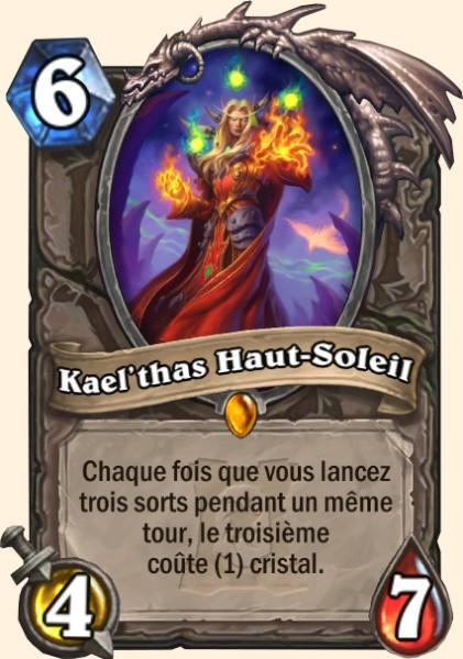 Kael'thas Haut-Soleil carte Hearthstone