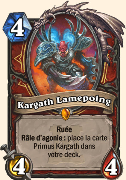 Kargath Lamepoing carte Hearthstone