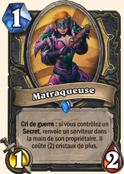 Matraqueuse carte Hearthstone
