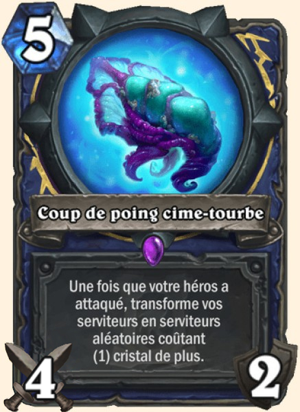 Coup de poing cime-tourbe carte Hearthstone