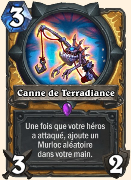 Canne de Terradiance carte Hearthstone