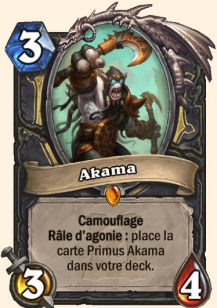 Akama carte Hearthstone