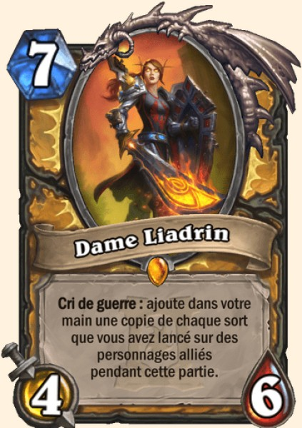 Dame Liadrin carte Hearthstone