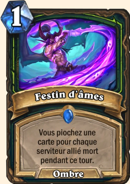 Festin d'âmes carte Hearthstone