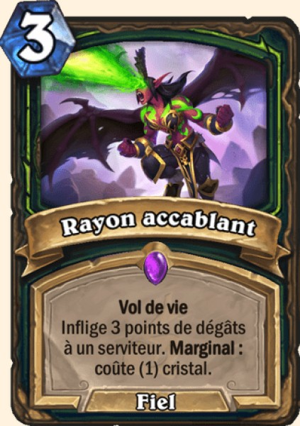 Rayon accablant carte Hearthstone
