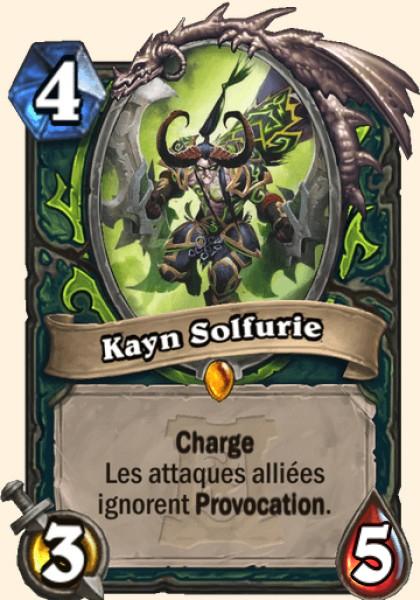 Kayn Solfurie carte Hearthstone