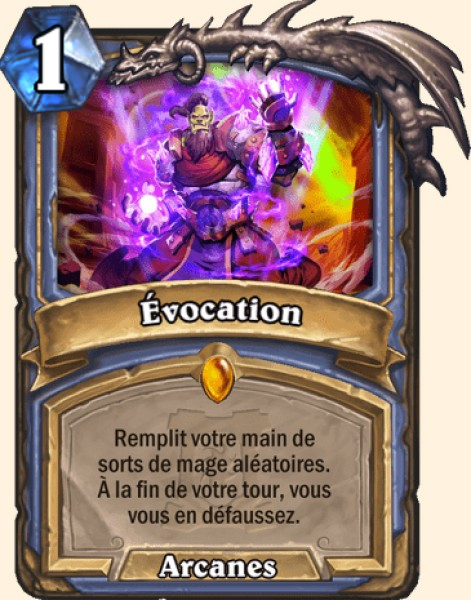 Évocation carte Hearthstone