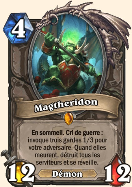 Magtheridon carte Hearthstone