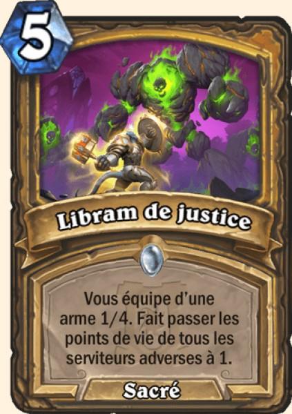 Libram de justice carte Hearthstone