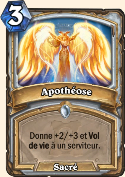 Apothéose carte Hearthstone