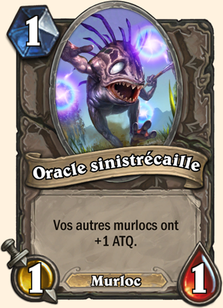 Oracle sinistrécaille carte Hearthstone
