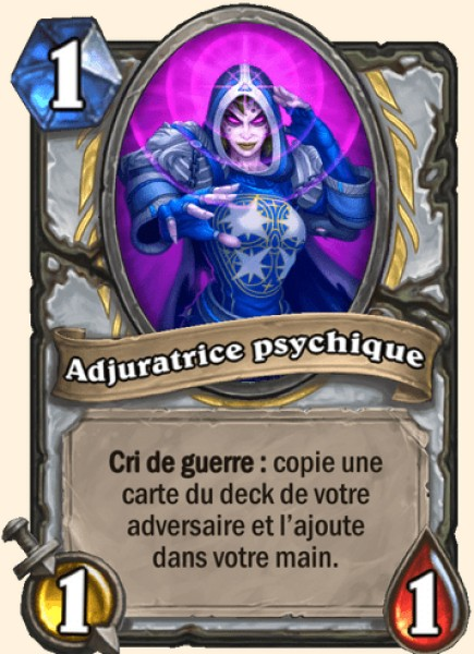 Adjuratrice psychique carte Hearthstone