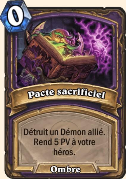 Pacte sacrificiel carte Hearthstone
