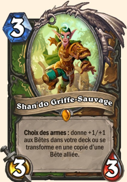 Shan'do Griffe-Sauvage carte Hearthstone