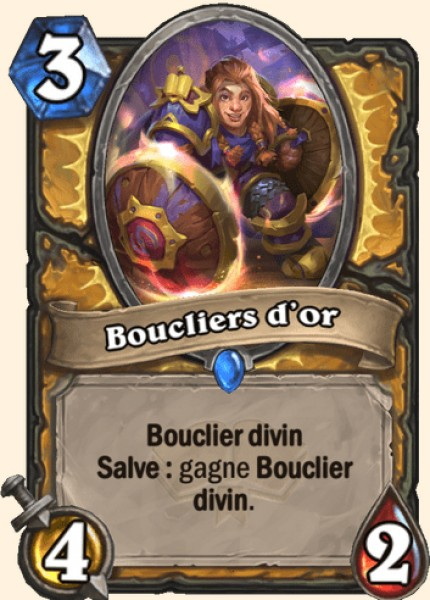 Boucliers d'or carte Hearthstone