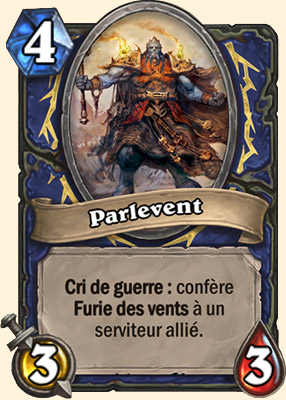 Parlevent carte Hearthstone