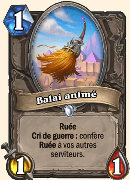 Balai animé carte Hearthstone