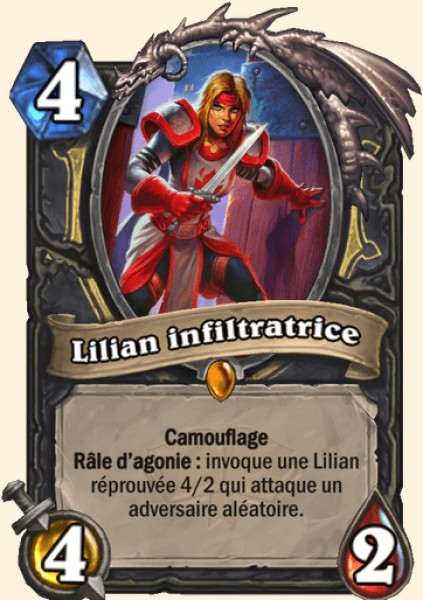 Lilian infiltratrice carte Hearthstone