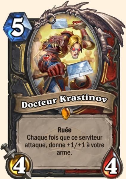 Docteur Krastinov carte Hearthstone