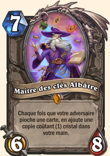 Maître des clés Albâtre carte Hearthstone