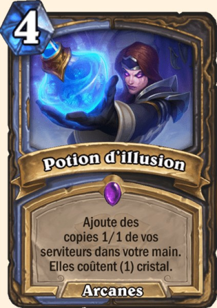 Potion d'illusion carte Hearthstone