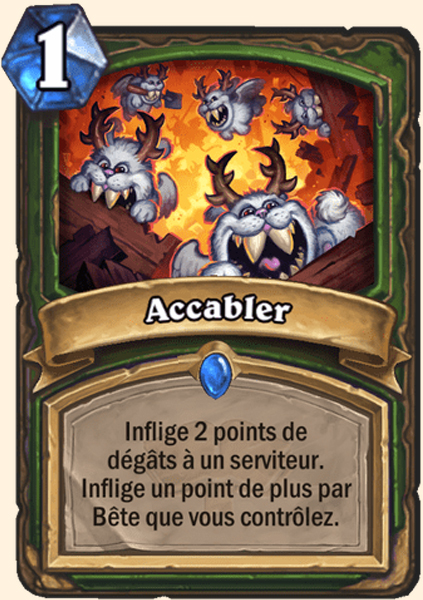 Accabler carte Hearthstone