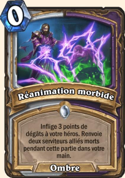 Réanimation morbide carte Hearthstone